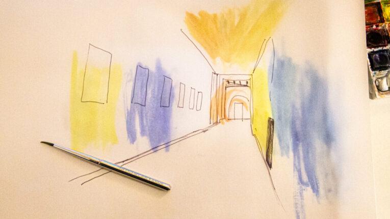 corridor-mural